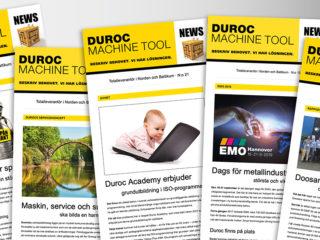 Duroc Machine Tool nyhetsbrev